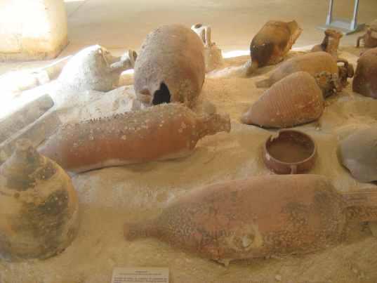 Ex-Stabilimento Florio, Antiquarium: Anfore vinarie